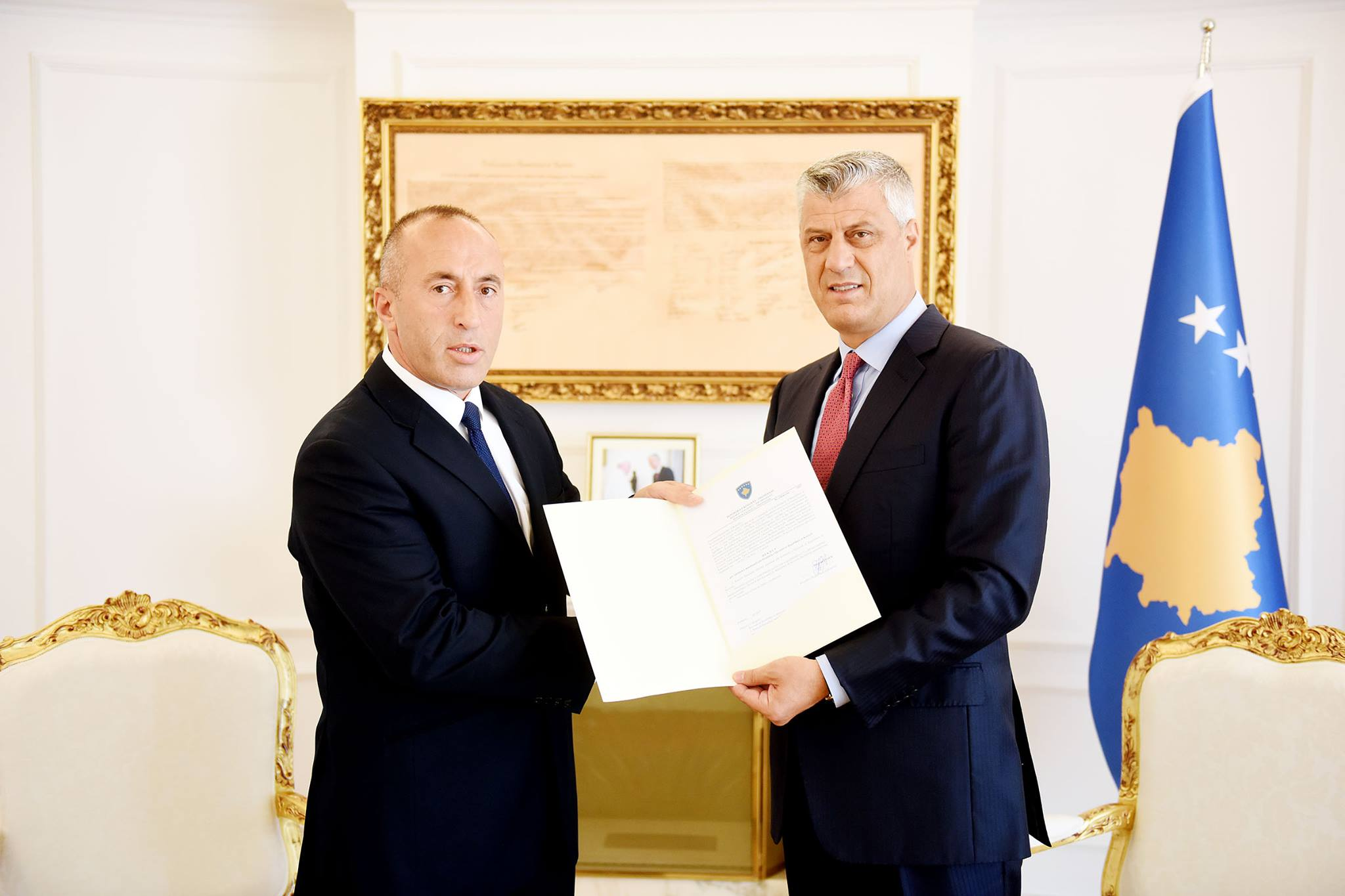 Kosovo president hands war veteran mandate to form government